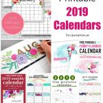 19 Free Printable 2019 Calendars
