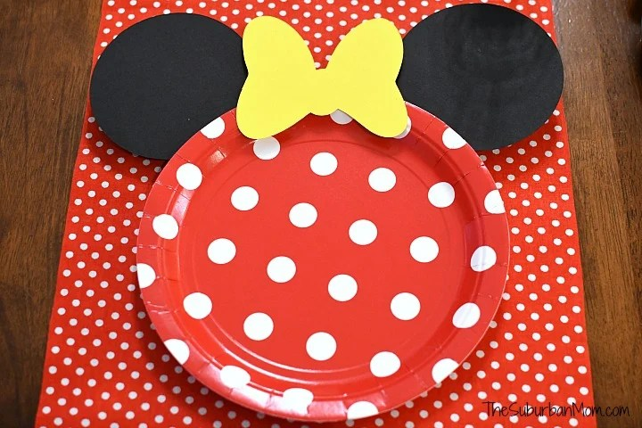 DIY Minnie Mouse Plate