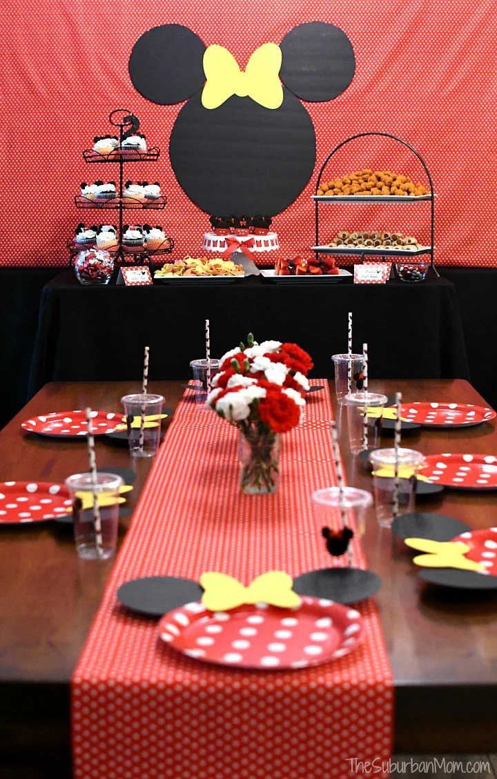 Minnie Mouse Birthday Party Ideas The Suburban Mom