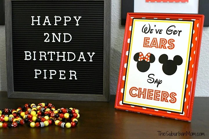 We've Got Ears Say Cheers Printable Sign