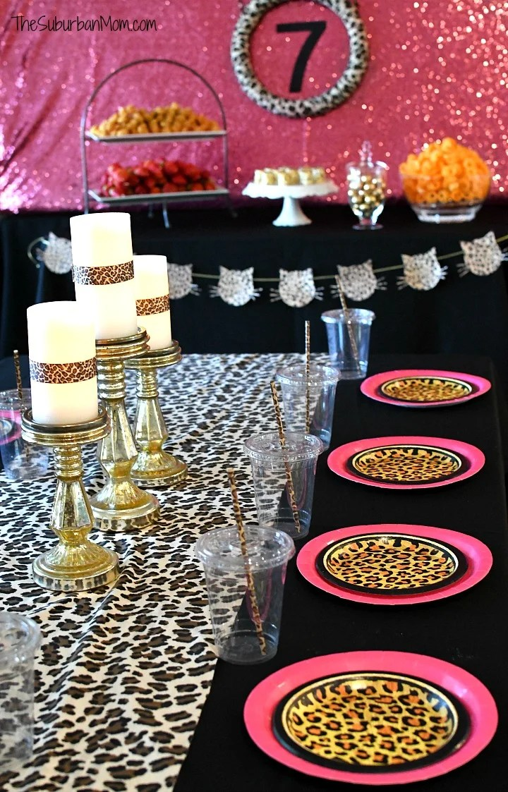 Cheetah Party Tablescape