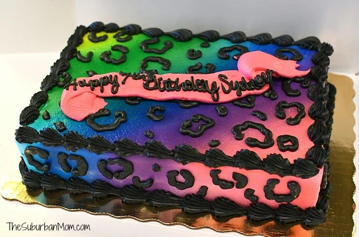 Rainbow Cheetah Cake
