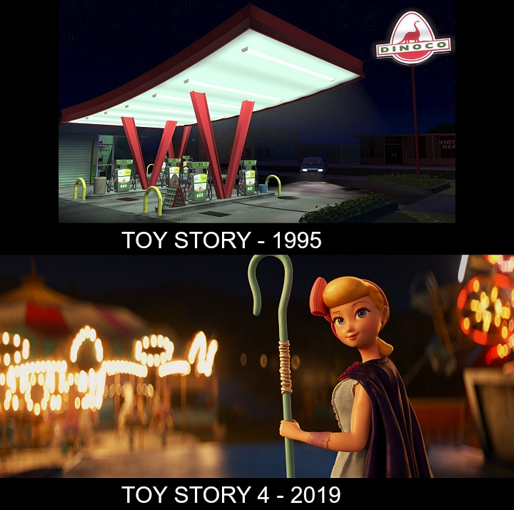 Toy Story v Toy Story 4 Lighting Comparison