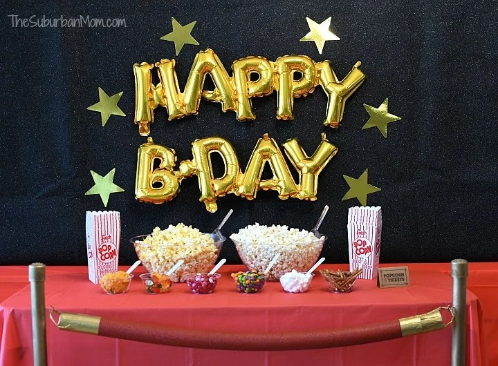Movie Birthday Party Decorations