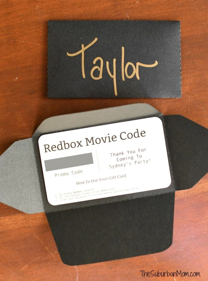 Movie Birthday Party Favor