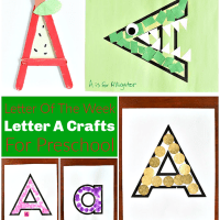 "Letter ""A"" Crafts For Preschool"