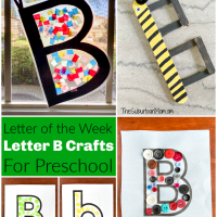 "Letter ""B"" Crafts For Preschool"