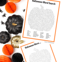 Free Printable Halloween Pumpkin Shaped Word Search