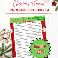 Hallmark Christmas Movie 2021 Schedule Checklist - Free Printable