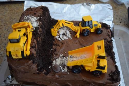 Strange Trucks At Work Birthday Cake The Sugar Pixie Funny Birthday Cards Online Fluifree Goldxyz
