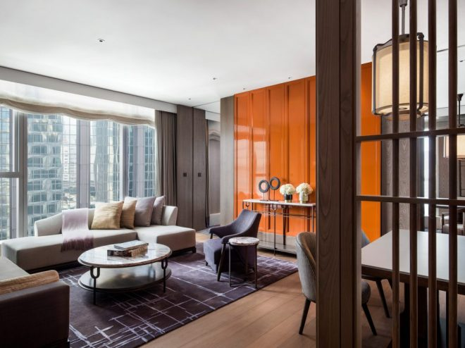 St Regis Hong Kong - Metropolitan Suite Living Room