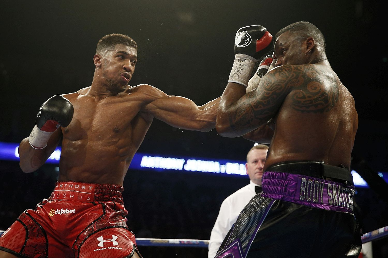 AJ stopped Dillian Whyte in the seventh round in 2015
