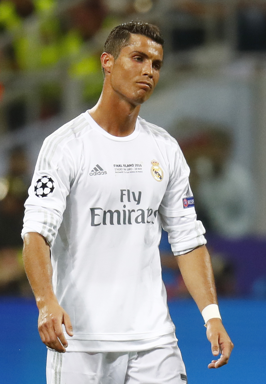 Cristiano Ronaldo comes in at No3, behind Barcelona duo Lionel Messi and Neymar