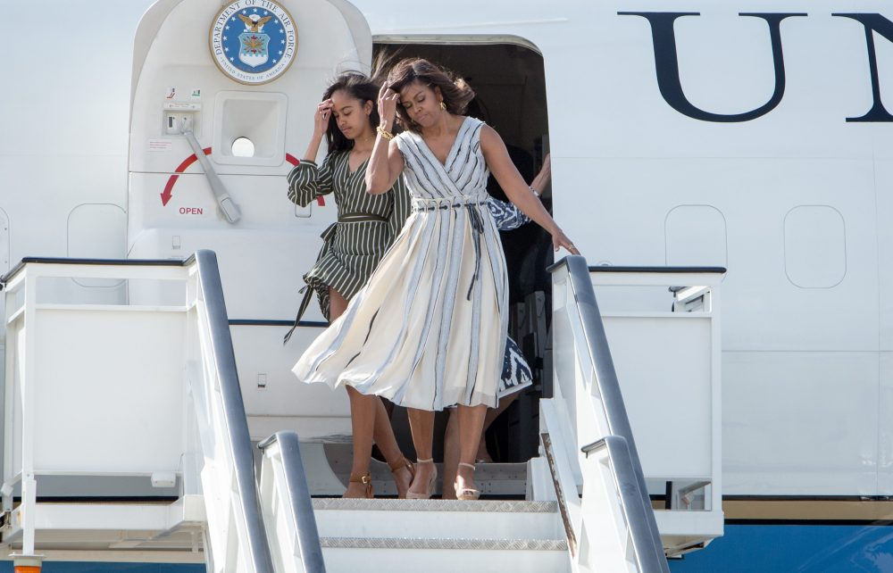 BESTPIX - Michelle Obama Arrives in Spain
