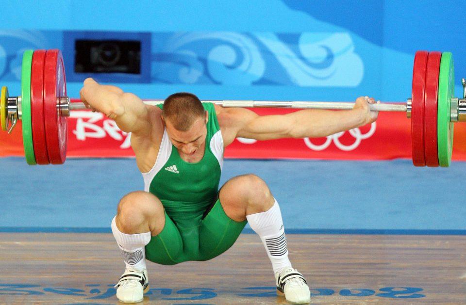 Janos Baranyai dislocated his elbow at the Beijing Olympics in 2008