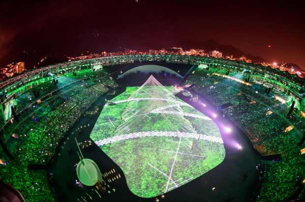 The Maracana, which will host the football finals, was the venue for Friday's ceremony