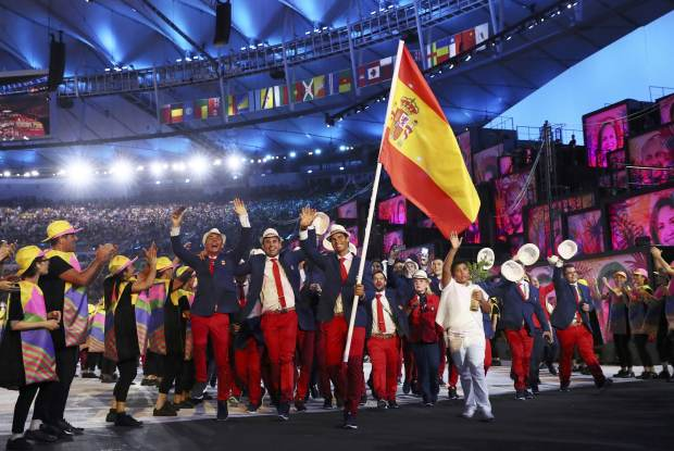 Rafael Nadal led the Spanish team into the Maracana on Friday night