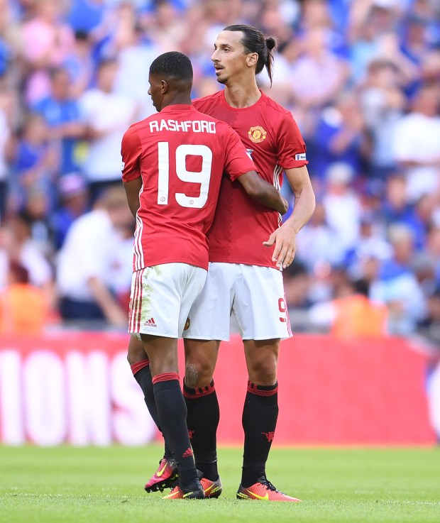 Marcus Rashford is keen to learn from his new striking team-mate Zlatan Ibrahimovic