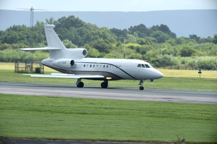French star Pogba flew into Manchester on a private jet