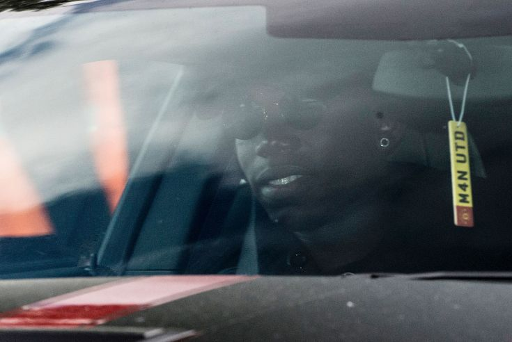 French footballer Paul Pogba arrives in