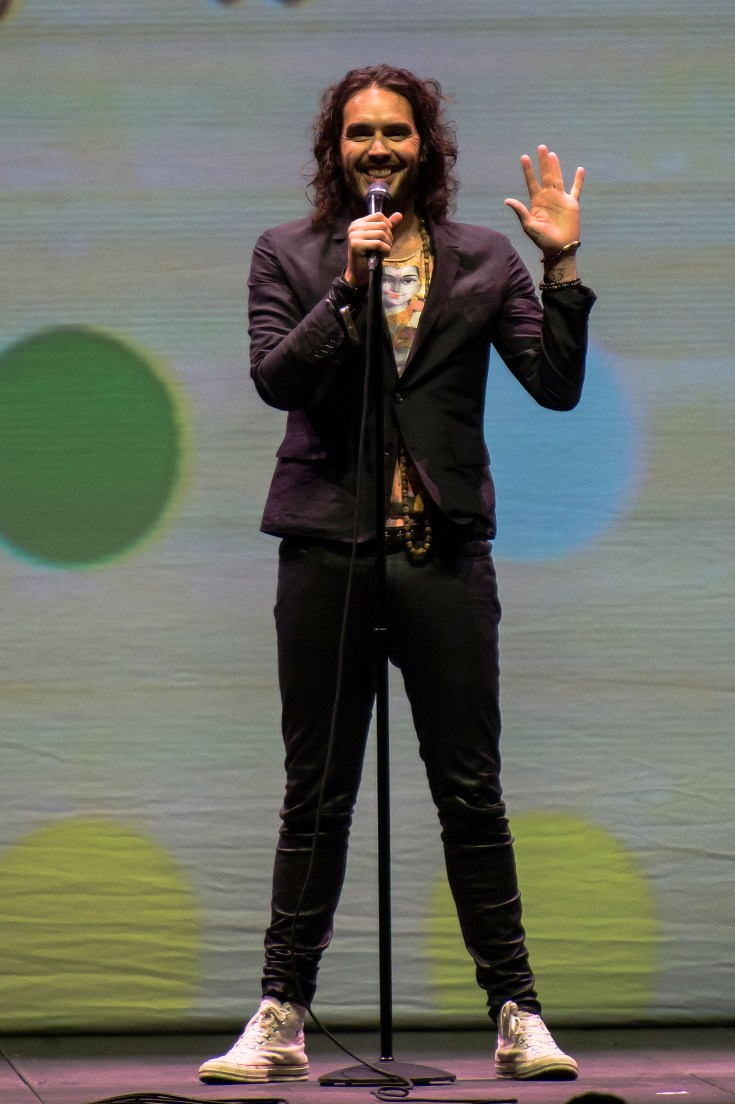 Russell Brand's magic number is around 1,000