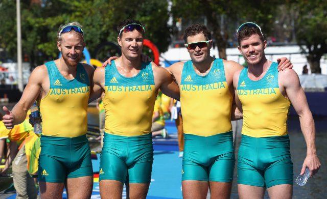 The Australian rowing team