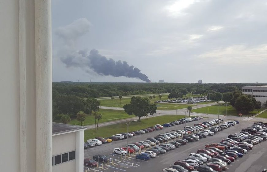 Smoke could be seen billowing across the sky after the blast