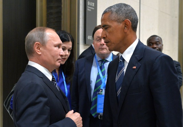 Putin and Obama shared a tense handshake at the G20 meeting in China yesterday