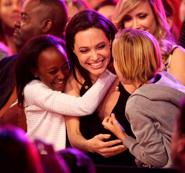 Zahara Jolie-Pitt, Angelina Jolie and Shiloh Jolie-Pitt Nickelodeon's Kids' Choice Awards in 2015