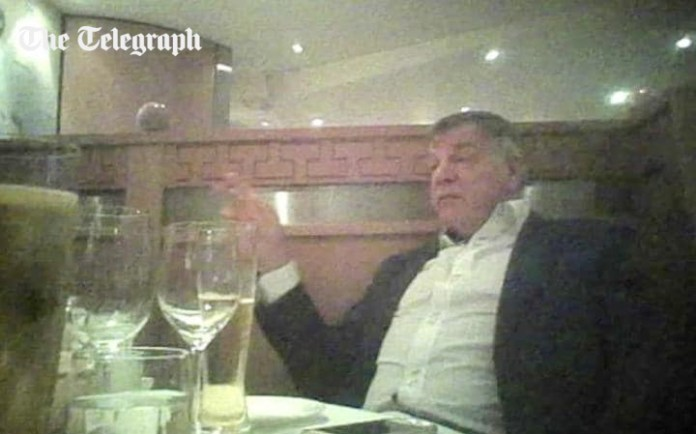 Sam Allardyce was caught in a sting by The Telegraph newspaper