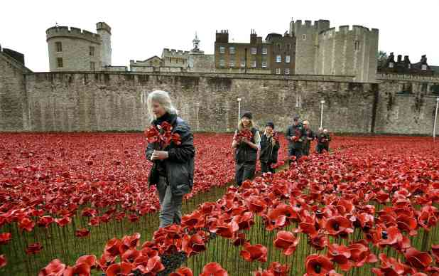 The installation at the Tower of London in 2014 raised £8 million