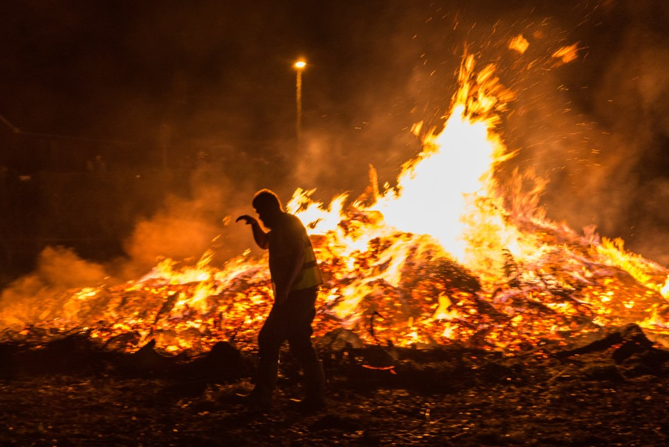 Bonfires are lit across the country in celebration of foiling the plot