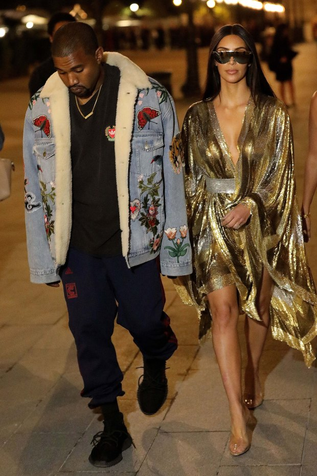 Kim's husband Kanye West first learned of the incident while on stage in New York