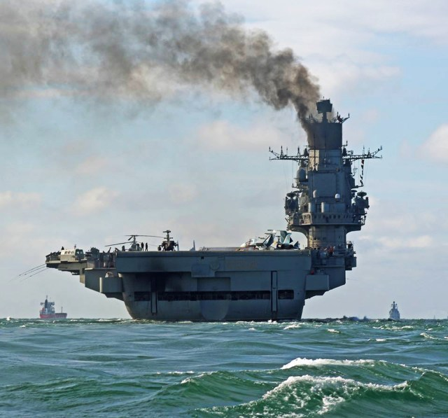 The latest show of sabre-rattling saw the rustbucket Admiral Kuznetsov steam through the English Channel on the way to join the war in Syria