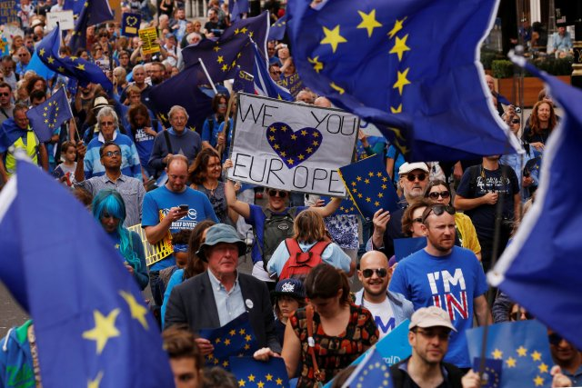 The UK voted for Brexit last June... and protests were immediate