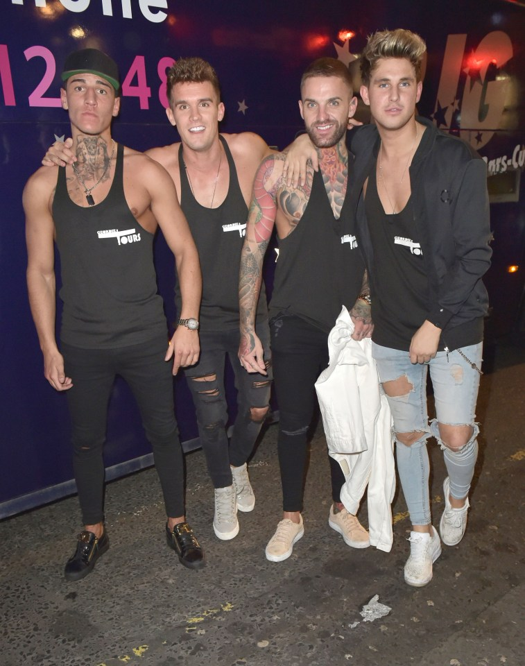 Marty Mckenna, Gaz Beadle, Aaron Chalmers and Billy Phillips make up the show's boys