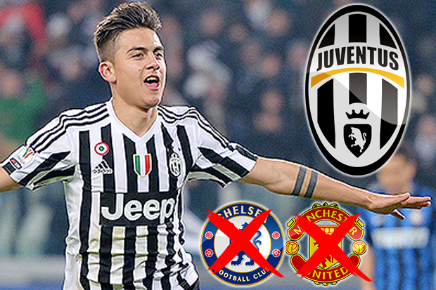 Manchester United and Chelsea tar Paulo Dybala set to end