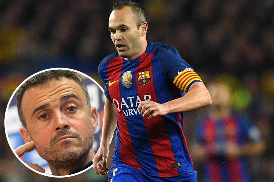 Andres Iniesta Luis Enrique claims Barcelona star is impossible