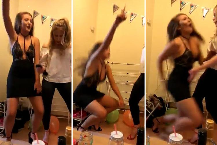 female reveller needs stitches in her bum after 's**t dropping' onto