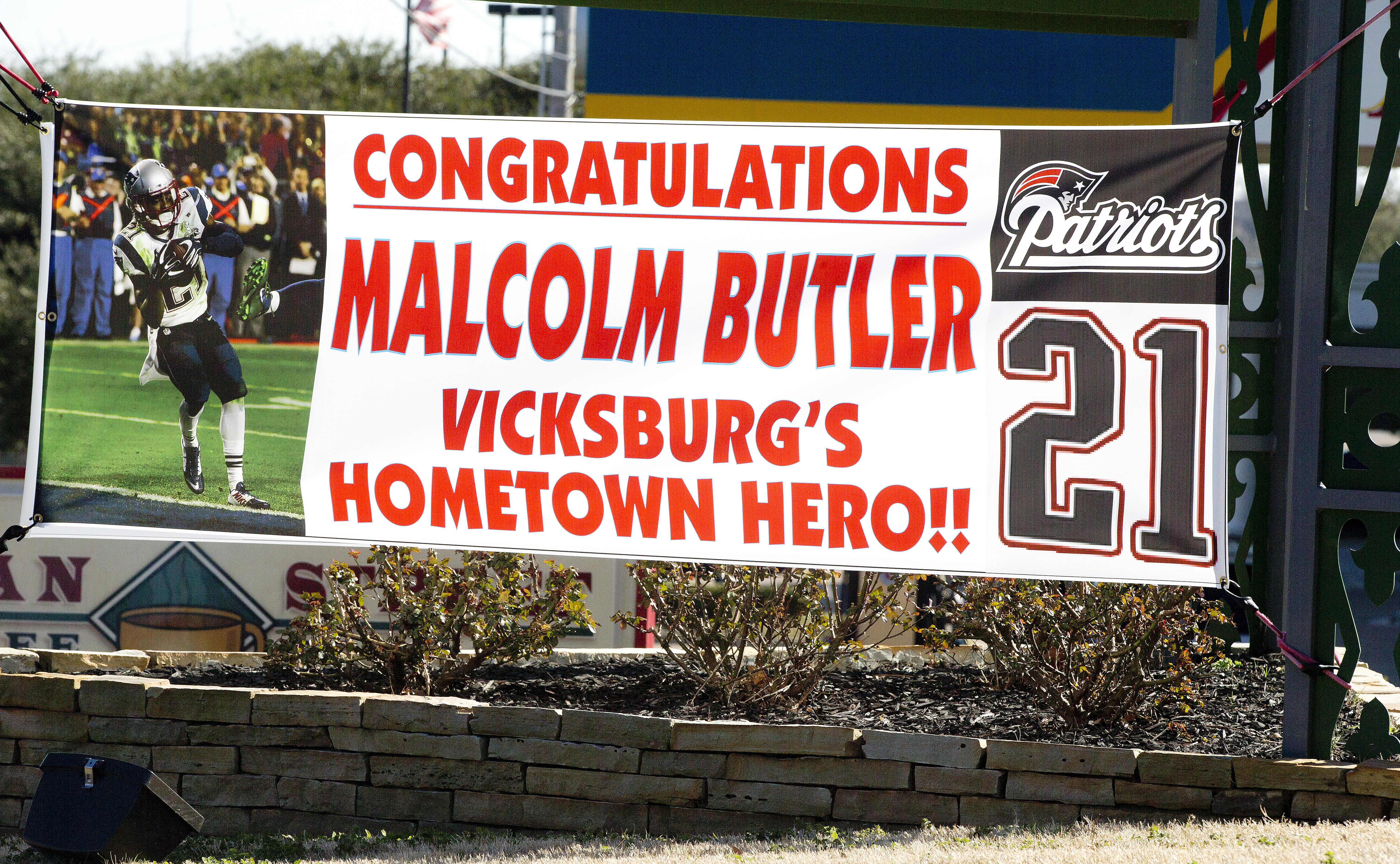 Butler was given a hero's reception when he returned to Vicksburg after his Super Bowl exploits