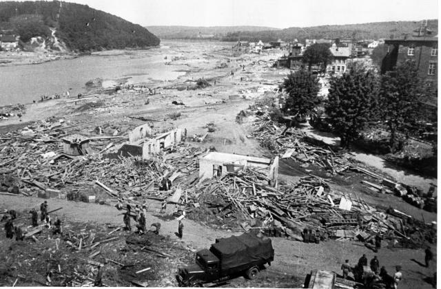 Devastation . . . the Mohne valley after 1943 raid