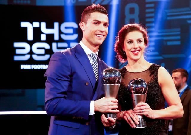The two Fifa Best players in the world, Ronaldo and Carli Lloyd