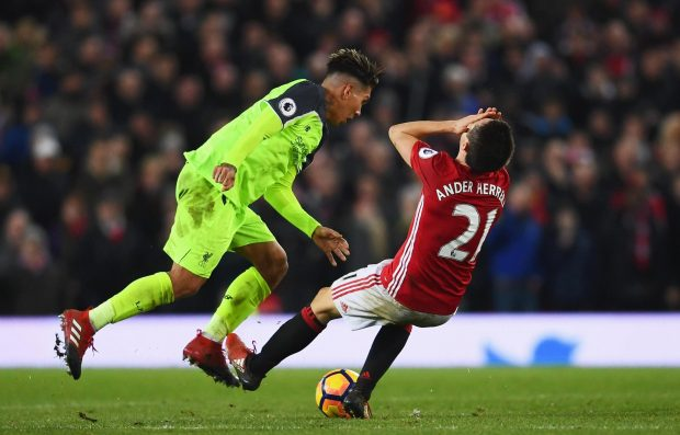 The coming together between Firmino and Herrera that sparked the row