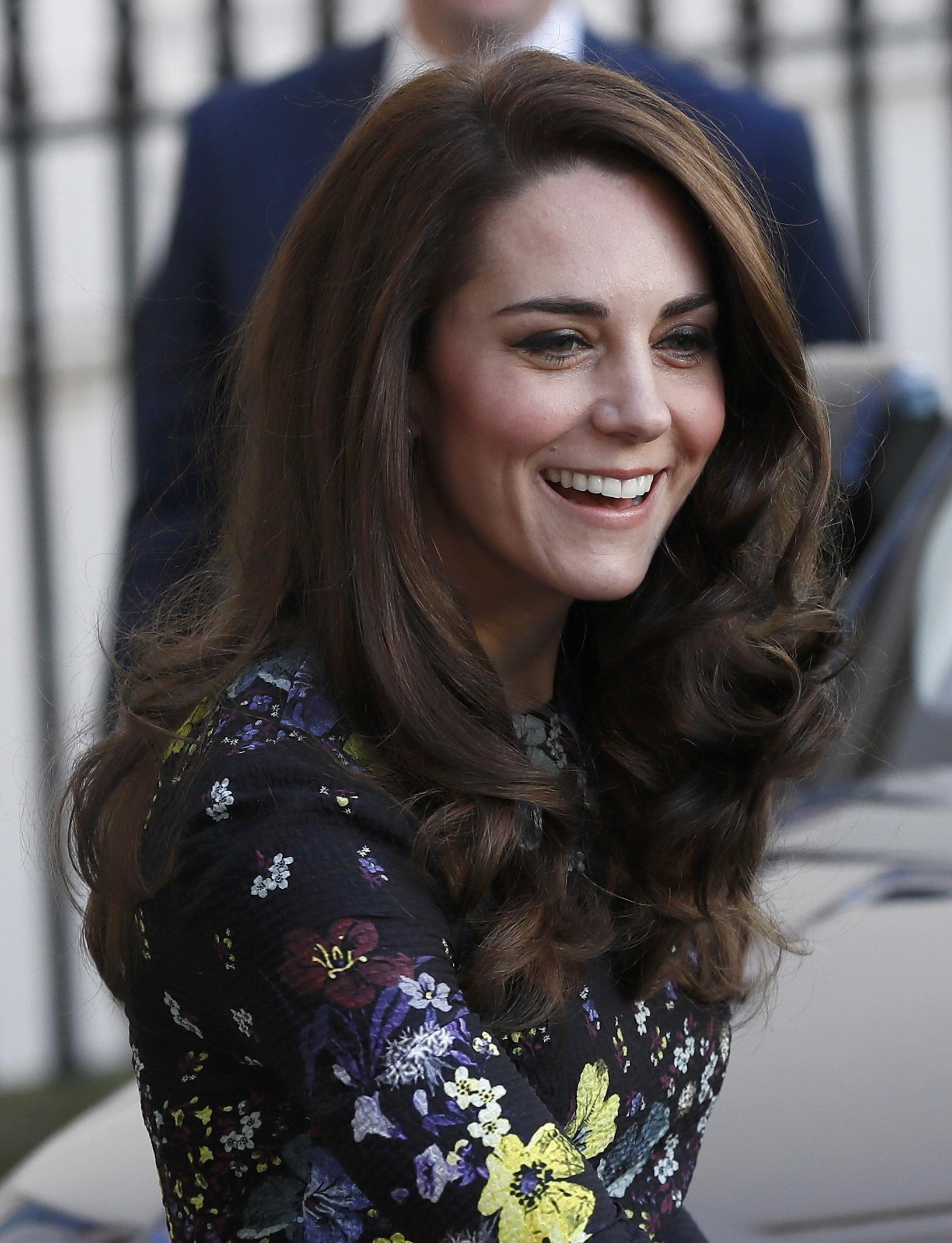 Kate Middleton shows off her new hairstyle as she joins William and