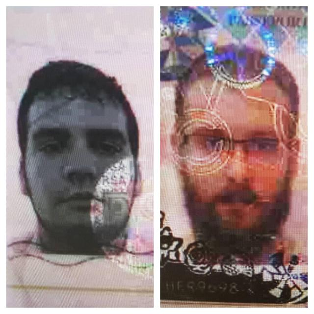 Thai police have released images showing the main suspects in the murder of Tony Kenway. British national Miles Dicken Turner (right) and South African Abel Bonito Caldeira (left)