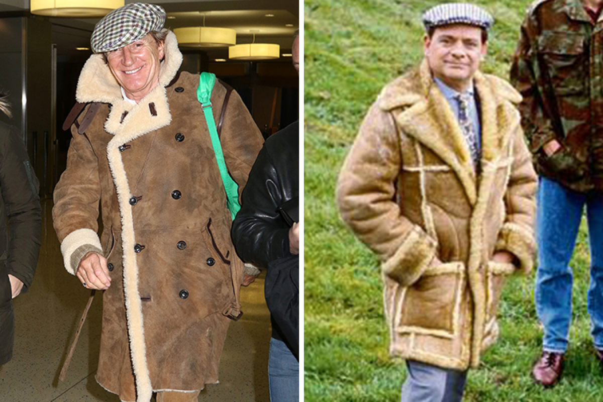 Sir Rod Stewart goes for dapper Del Boy look in flat cap and ...