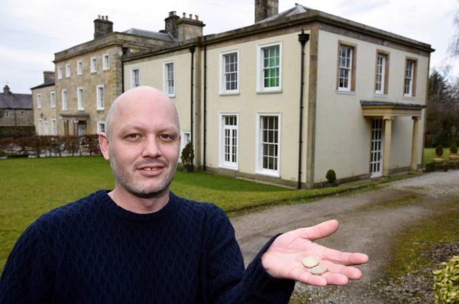 Dunstan Low is selling his palatial home for £2 a pop in a raffle