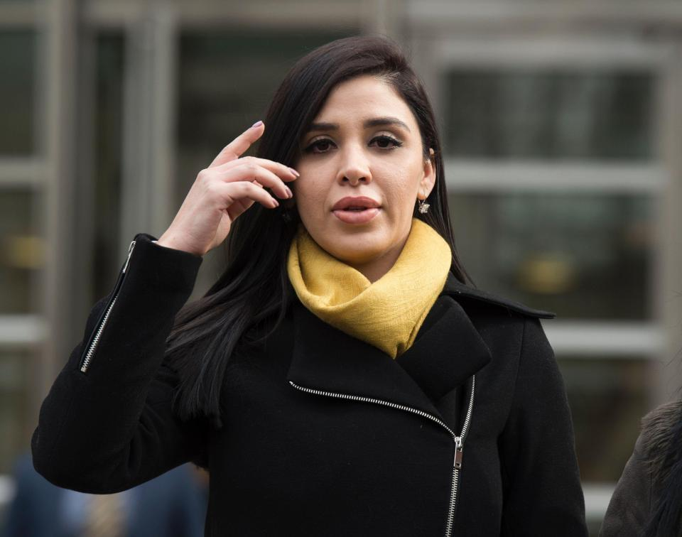 Mexican-American beauty queen saw her drug lord husband Joaquin 'El Chapo' Guzman at court