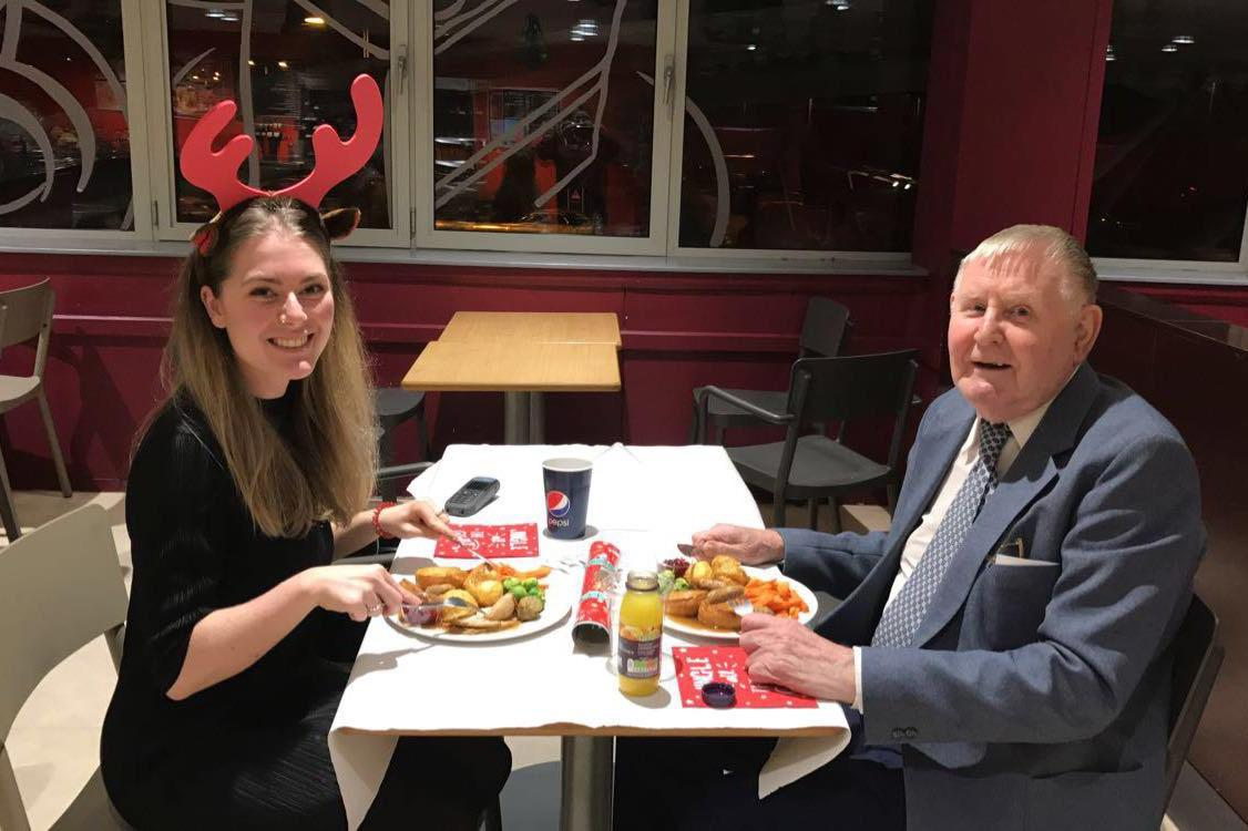news sainsburys worker dinner date with elderly widower after learning friends family turns flowers