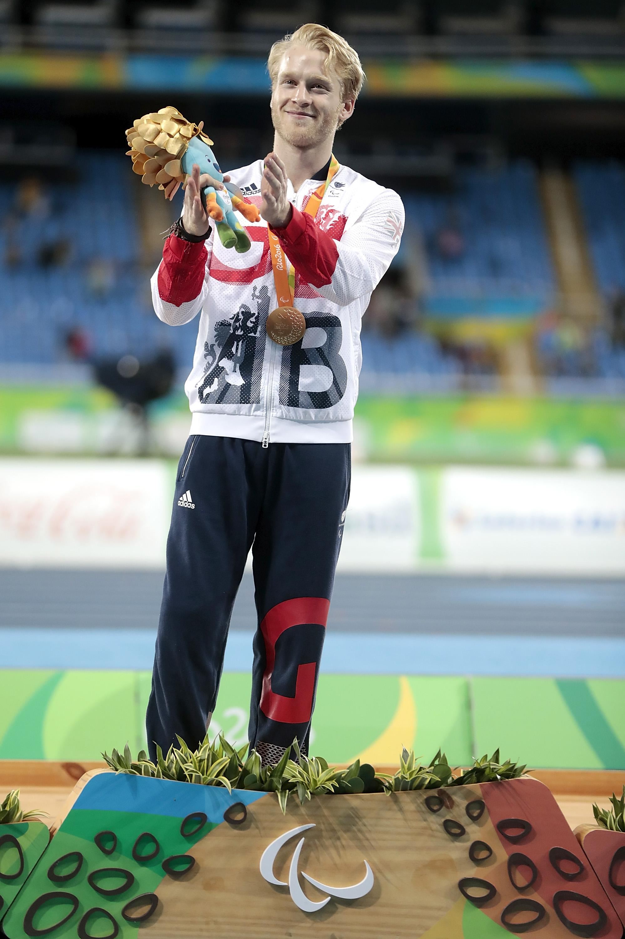 Peacock then defended his Paralympic gold at the 2016 Rio Olympics - even bettering his 100m time